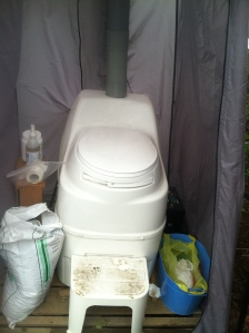 Our composting toilet.